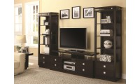 700696 Home Theater Furniture Units in Cappuccino