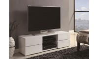 700825 White High Gloss Contemporary TV Stand by Coaster