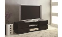 700841 Contemporary TV Stand in Black High Gloss Finish