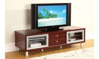 720 Contemporary Long TV Stand in Cherry Finish