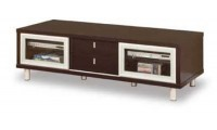 720 Contemporary Long TV Stand in Walnut Finish