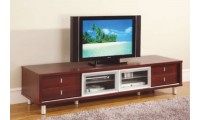722 Contemporary Large Cherry TV Entertainment Center