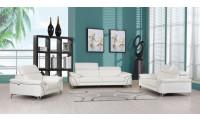 Divanitalia 727 Modern Living Room Set in White Leather