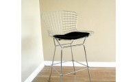 Bertoia Silver Wire Modern Bar Stool