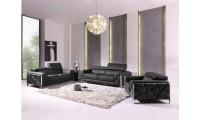 Divanitalia 903 Living Room Set in Gray Leather