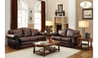 9616 Midwood Living Room Set in Brown Leather