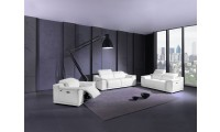 Divanitalia 9762 Reclining Living Room Set in White Leather