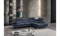 A761 Sectional Sofa in Blue Leather
