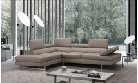 A761 Sectional Sofa in Peanut Leather