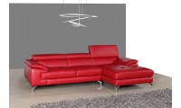 A973B Modern Sectional Sofa in Red Italian Leather