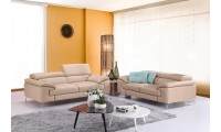 A973 Contemporary Living Room Set in Beige Leather