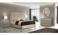 Adagio Bedroom Set in Ivory with Storage Bed