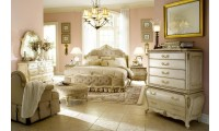 AICO Furniture Lavelle Bedroom Set in Blanc