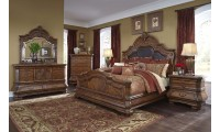 AICO Tuscano Melange Traditional Bedroom Set in Melange