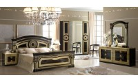 Aida Black and Gold Italian Classic Bedroom Set - Camelgroup Italy