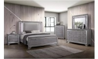 Alanis Bedroom Set in Light Gray Color