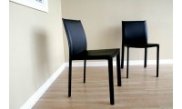 Burridge Contemporary Black Leather Dining Chair