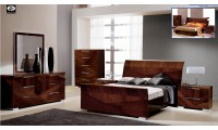 Capri Italian Bedroom Set in Walnut Lacquer by ALF Group