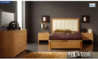 Alicante 515 Bedroom Set in Light Cherry Finish by Dupen