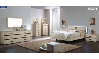 Altea Bedroom Set in Modern Italian Beige Finish