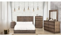 Amarante Modern Bedroom Set in Rustic Natural Tone