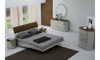 Amsterdam Bedroom Set in Grey Finish J&M Furniture