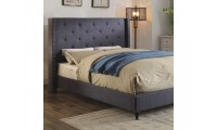 Anabelle Platform Bed in Blue Fabric