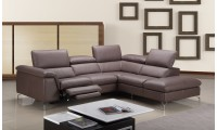 Anastasia Power Reclining Sectional Sofa in Brown Leather