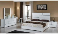 Modrest Ancona Italian Bedroom Set in White Lacquer Finish