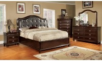 Arden Bedroom Set in Brown Cherry