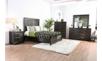 Argyros Modern Bedroom Set in Espresso