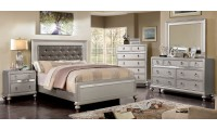 Avior Bedroom Set in Silver Finish