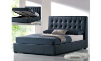 Athens Platform Storage Bed in Black by At Home USA