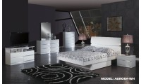 Aurora White Modern Bedroom Set by Global Furniture