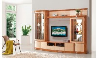 AV3068 Modern Light Two Tone High Gloss Finish Wall Unit