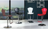 Red, Black, Cream and Brown Bar Stools B8008