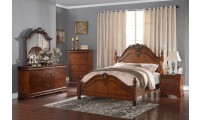 B493 Traditional Bedroom Set in Brown Oak Finish
