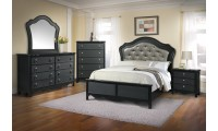 B662 Panel Bedroom Set in Black Finish