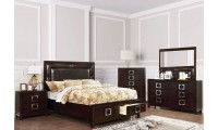 Balfour Bedroom Set in Brown Cherry Finish