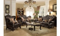 675 Barcelona Living Room Set in Dark Brown Leather