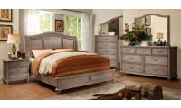 Belgrade II Bedroom Set in Rustic Natural Tone