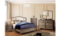 Belgrade II Traditional Bedroom Set in Rustic Natural and Ivory