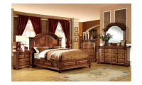Bellagrand Bedroom Set in Antique Tobacco Oak Finish