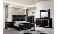 Bellanova Modern Bedroom Set in Black
