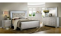 Bellanova Modern Bedroom Set in Silver