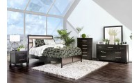 Berenice Bedroom Set in Espresso And Beige