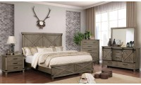 Bianca Bedroom Set in Gray Finish