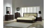 Boston Modern Bedroom Set in Brown by J&M Furniture
