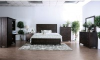 Brenna Bedroom Set in Espresso Finish
