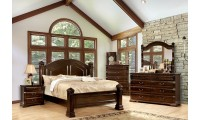 Burleigh Traditional Bedroom Set in Cherry Finish